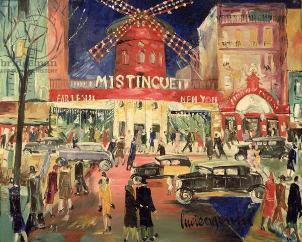 Le Moulin Rouge, 1930 (oil on canvas)