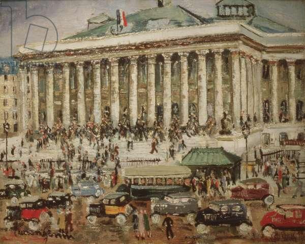 La Bourse (oil on canvas)