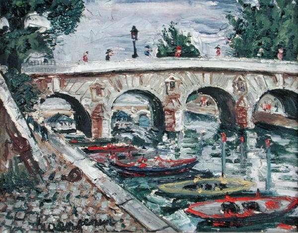Le Pont Marie (oil on canvas)