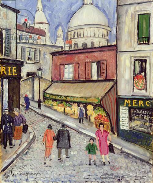 The Grocer of Montmartre (oil on canvas)