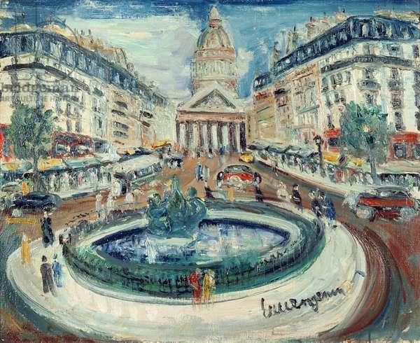 La Rue Soufflot (oil on canvas)