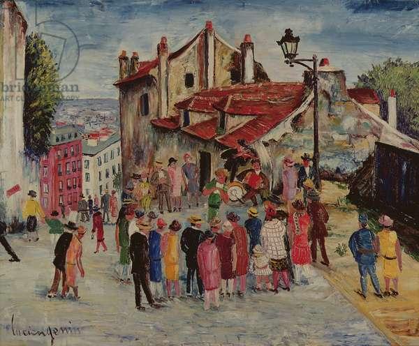 Mimi Pinson's House, rue du Mont-Cenis  (oil on canvas)