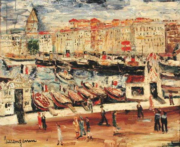The Port of Marseille (oil on canvas)