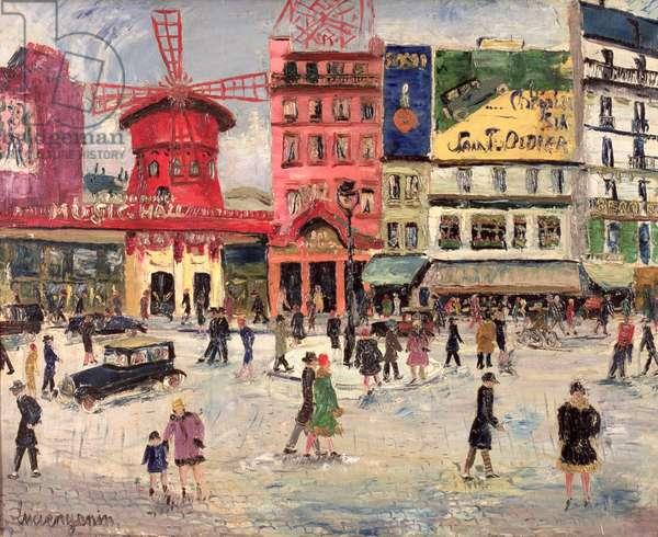 Le Moulin Rouge (oil on canvas)
