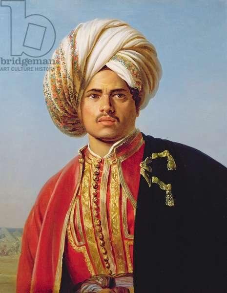 Ottoman turbanned warrior (oil on canvas)