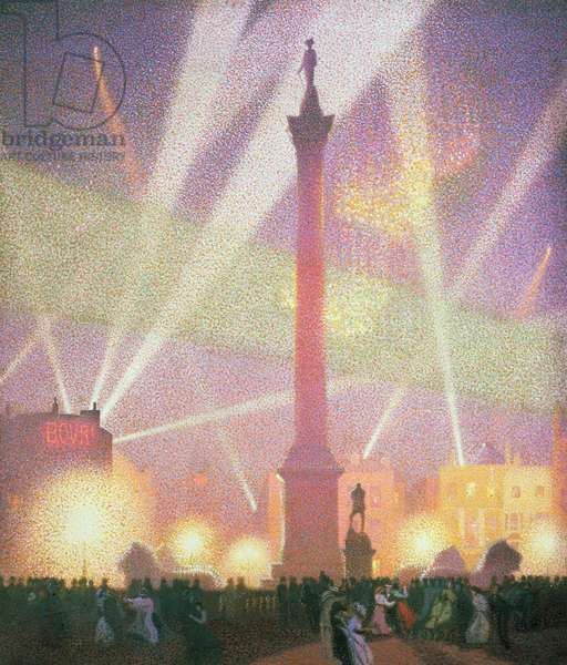Trafalgar Square, Peace Night, 1918