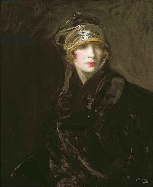 The Golden Turban (oil on canvas)