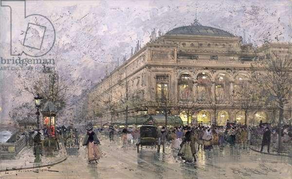 Parisian Street Scene (gouache on paper)