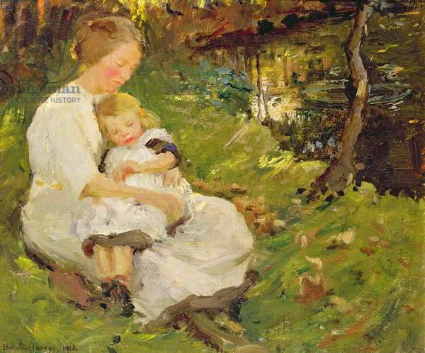 Mother and Child in a Wooded Landscape, 1913