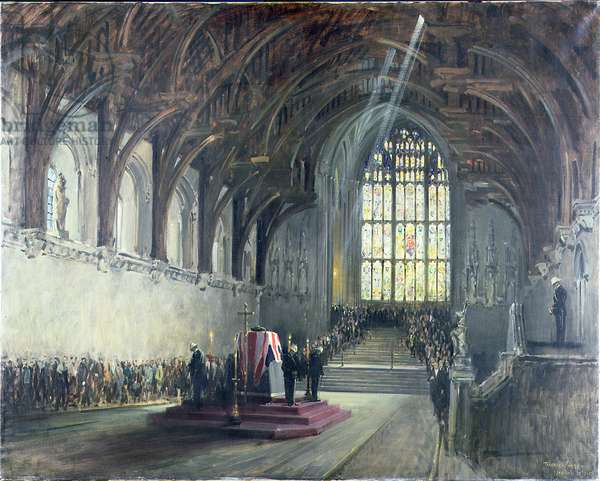The Lying in State of Sir Winston Churchill (1874-1965), January 29th, 1965 (oil on canvas)