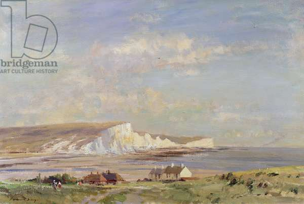 Seven Sisters, Sussex (oil on canvas)