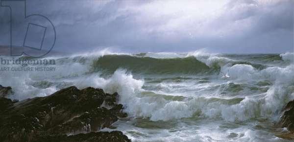 Rough Sea (oil on canvas)