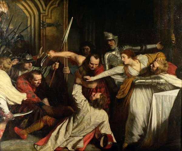 The Murder of Rizzio, 1787 (oil on canvas)