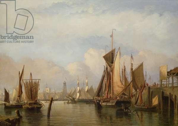 Billingsgate Wharf, 1852 (oil on canvas)
