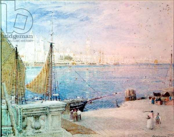 Venice, before the Campanile fell, 1903 (w/c on paper)