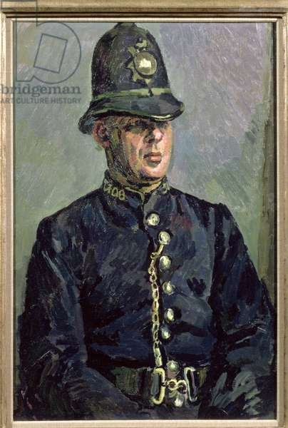 Portrait of Police Constable Harry Daley (1901-71) 1930 (oil on canvas)