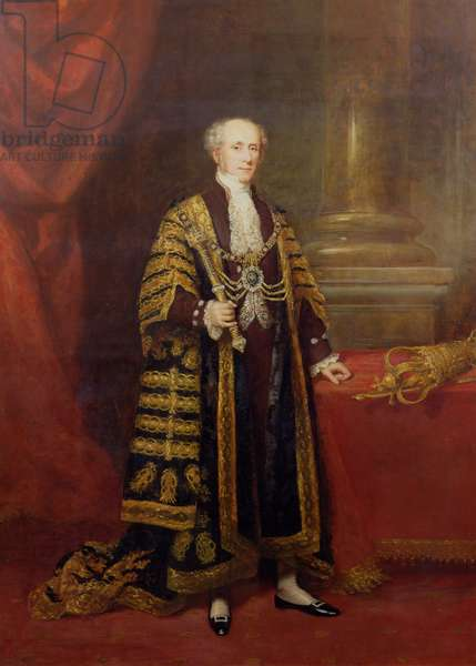 Portrait of Colonel Sir Samuel Wilson, Lord Mayor of London, 1838 (oil on canvas)