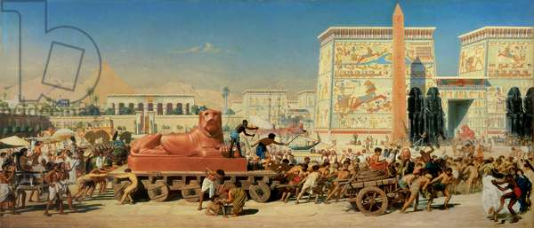 Israel in Egypt, 1867 (oil on canvas)