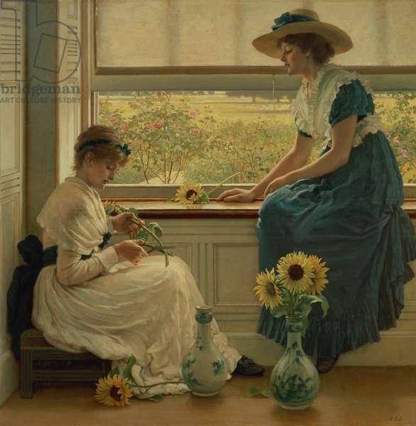 Sun and Moon Flowers, 1889 (oil on canvas)