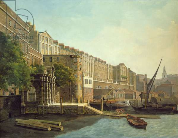 Adelphi Terrace and York Watergate (oil on canvas)