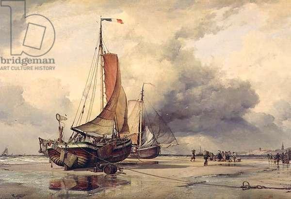 Dutch Pincks, Scheveningen, 1860 (oil on canvas)