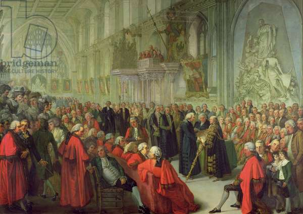 The Mayoralty Oath of Nathaniel Newnham, November 8th 1782 (oil on canvas)