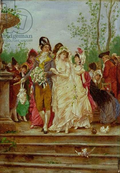 The Revolutionist's Bride, Paris, 1799 (oil on panel)