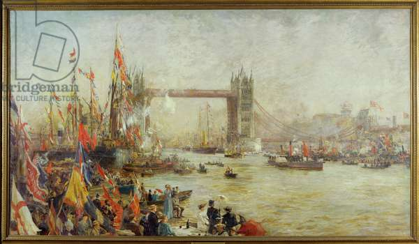 Opening of Tower Bridge, 1894 (oil on canvas)