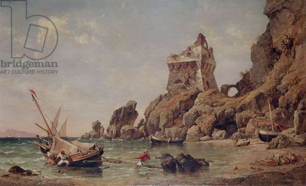 Tower of Erchia, Gulf of Salerno, 1849 (oil on canvas)