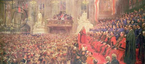 The City Imperial Volunteers in Guildhall on their Return from South Africa, 29th October 1900, 1902 (oil on canvas)