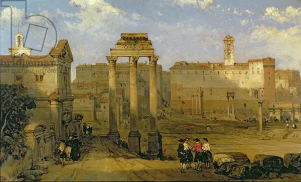 The Forum, Rome, 1859 (oil on panel)
