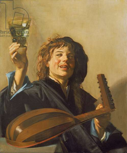The Merry Lute Player, c.1624-28 (oil on canvas)