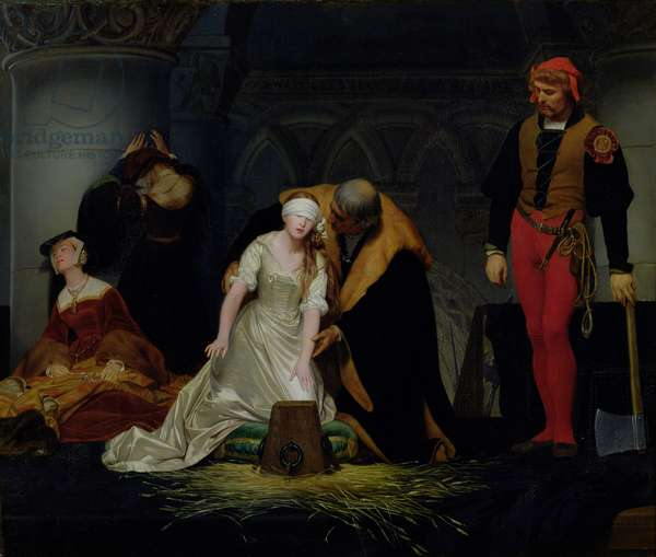 The Execution of Lady Jane Grey, 12th February 1554, c.1834 (oil on canvas)