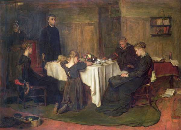 'The Lord Gave and the Lord Taketh Away - Blessed be the Name of the Lord', 1868 (oil on canvas)