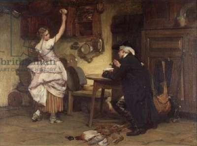 Flirtation, 1885 (oil on canvas)