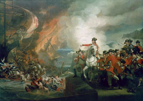 The Defeat of the Floating Batteries at Gibraltar, September 1782, 1783-91 (oil on canvas)