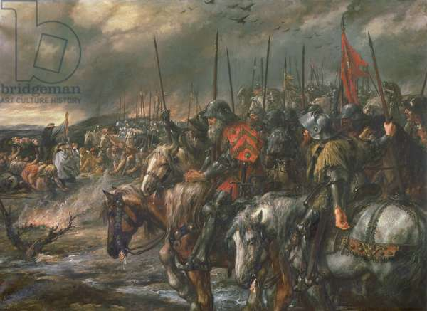 Morning of the Battle of Agincourt, 25th October 1415, 1884 (oil on canvas)