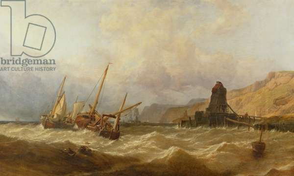 Oxwich Bay, South Wales, 1851 (oil on canvas)