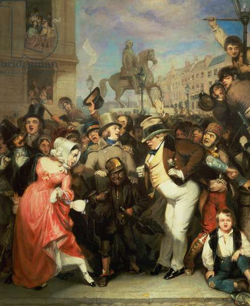 The Crowd, 1841 (oil on canvas)