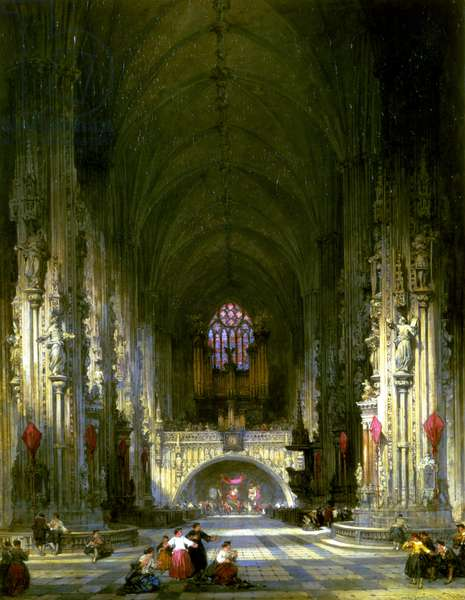 The Church of St. Stephen's, Vienna (oil on canvas)