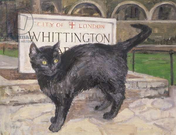 The Cat in Whittington Gardens, 1965 (oil on canvas)