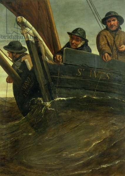 Deep Sea Fishing (oil on canvas)