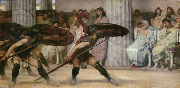 Pyrrhic Dance, 1869 (oil on panel)