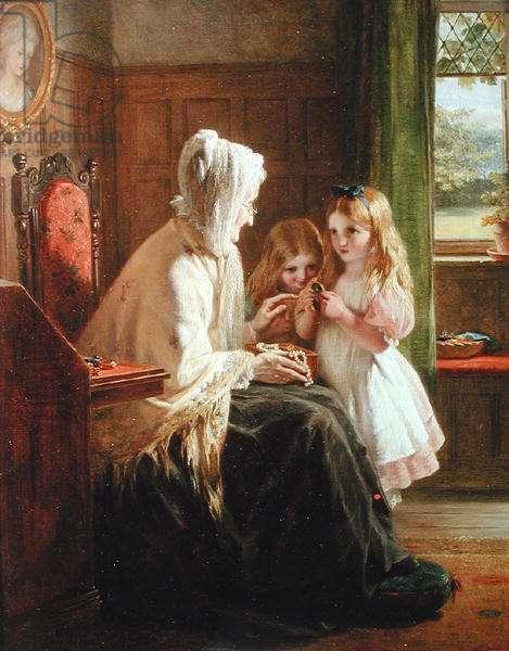 Gran's Treasures, 1866 (oil on canvas)