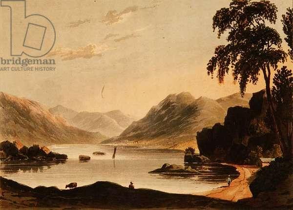Ullswater: from Stybarrow Crag by J.H.Fielding (print)