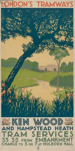 Kenwood and Hampstead Heath, 1928 (colour litho)