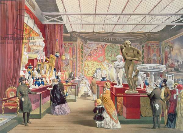 Great Exhibition: French Room, 1851 by Joseph Nash (1809-78), litho