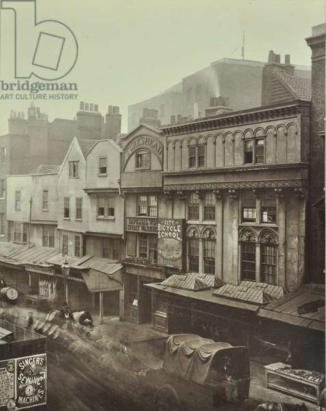 Turk's Head, Aldgate, London, 1883 (b/w photo)