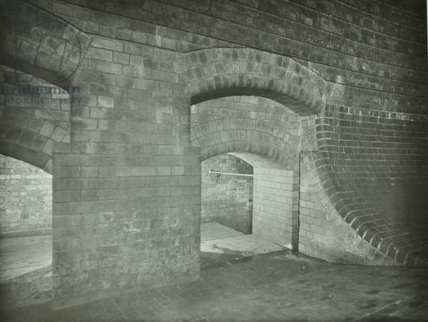 A view of London sewage system, 1939 (b/w photo)