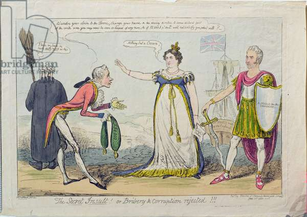 The Secret Insult! or Bribery and Corruption Rejected!!, pub. 1820 (etching)